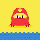 I Love the Beach Crab by laurxy