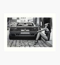 Ferrari 512TR & Ledy #1 Art Print