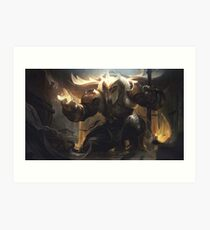 Warrior Of Light Art Print