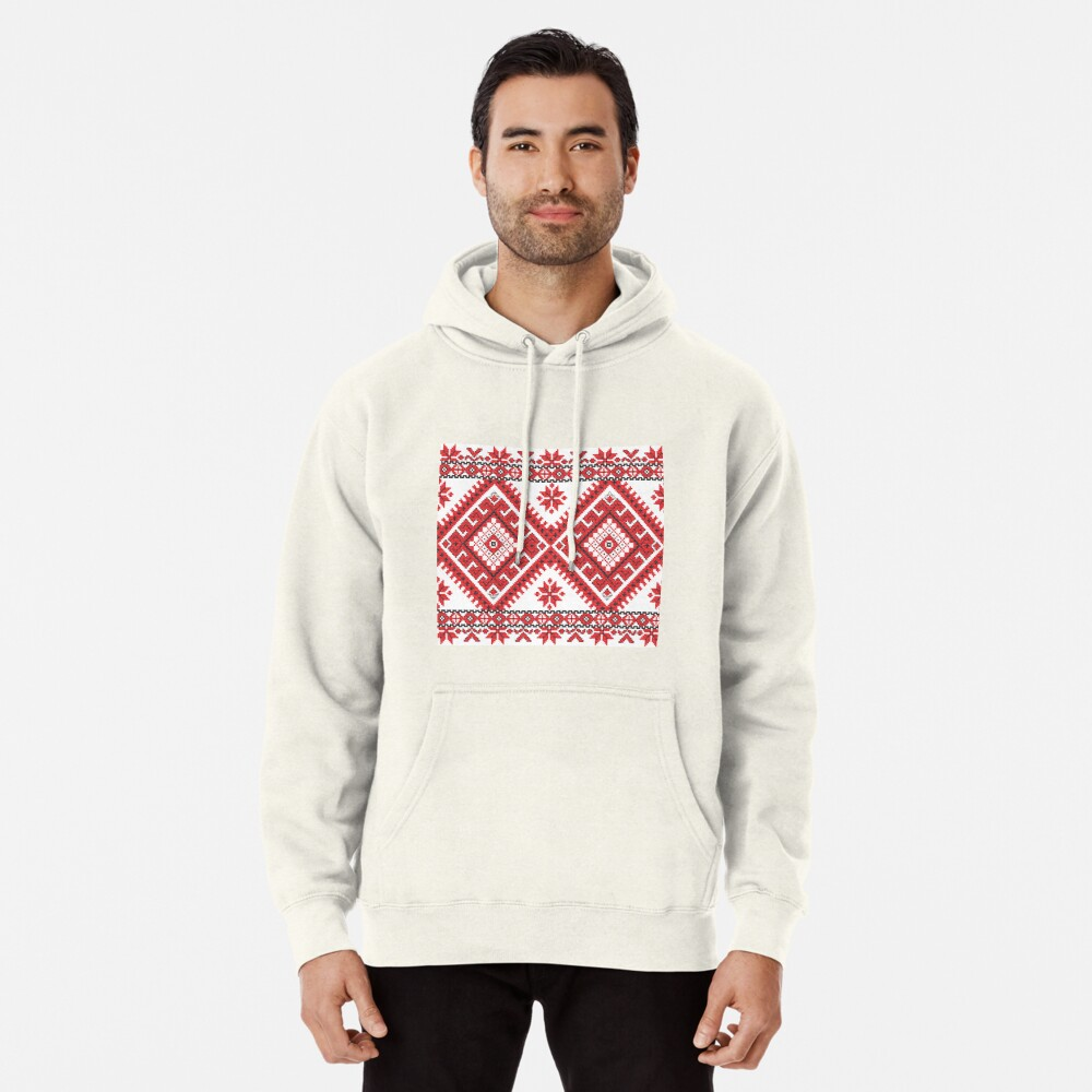 Ukraine Pattern - Ukrainian embroidery: вишивка, vyshyvka, #Ukraine #Pattern #Ukrainian #embroidery #вишивка #vyshyvka UkrainePattern #UkrainianEmbroidery #Украина: Pullover Hoodie