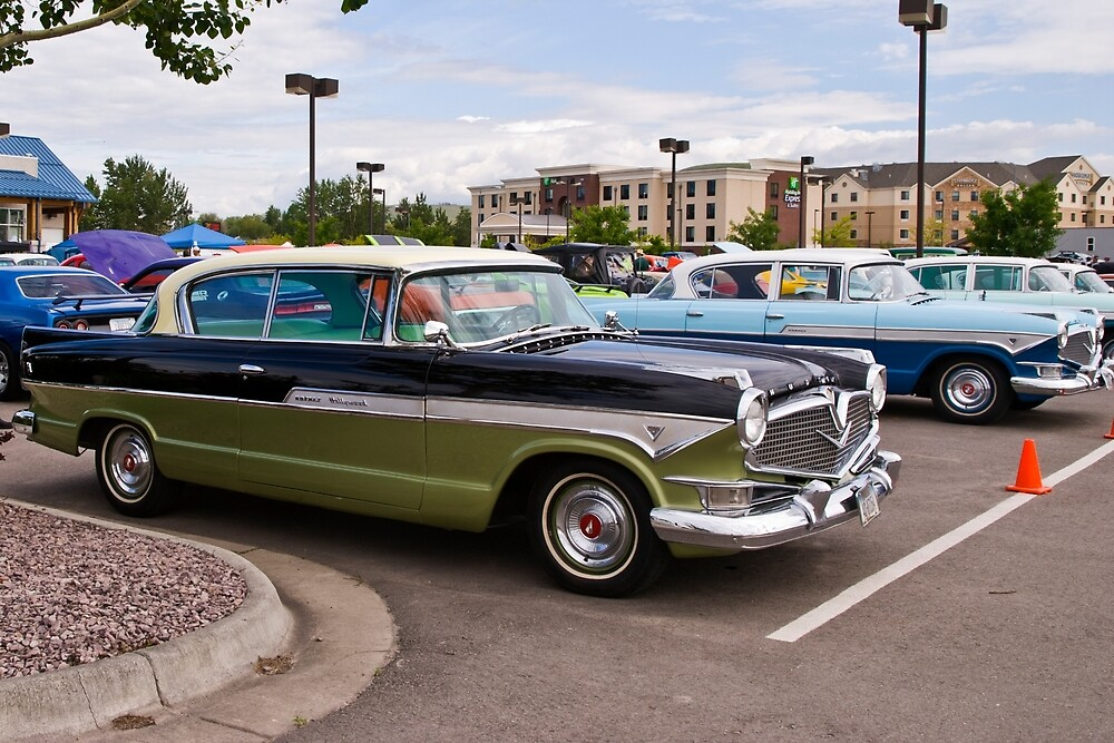 Sisters (1957 Hudson Hornets, side by side) by Bryan Spellman