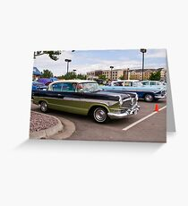 Sisters (1957 Hudson Hornets, side by side) Greeting Card