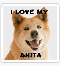 akita red love with picture Sticker
