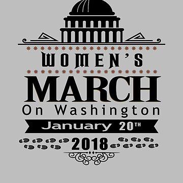 Women's March 2018 Washington DC T-Shirt by WearYourVoice