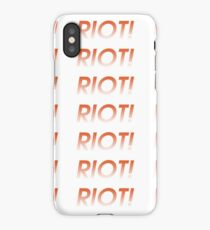 Riot (Paramore) iPhone Case