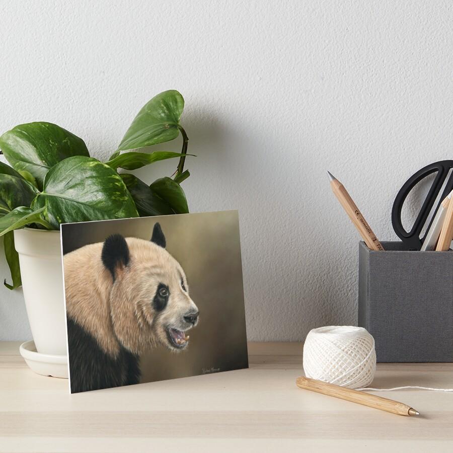 Giant Panda Art Board Print
