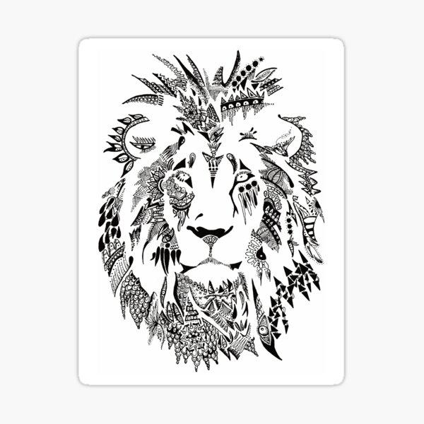 Leão Maori Sticker