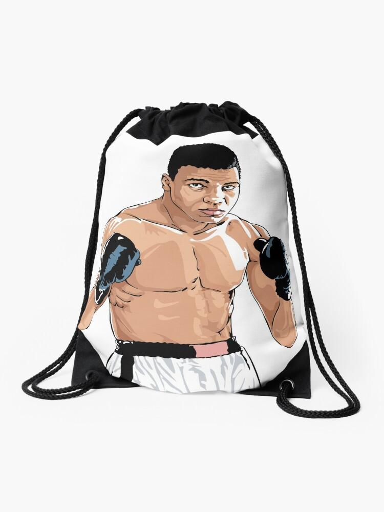 Mohammed Ali Clay Champion Drawstring Bag By Serdargokmen