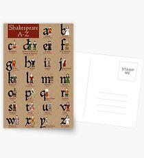 Shakespeare-Alphabet Postkarten