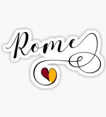 Rome Sticker, Rome Flag, Heart Rome Sticker