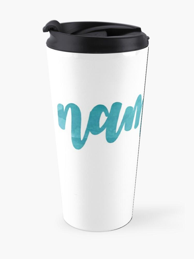 Alternate view of Namaste sticker  Travel Mug