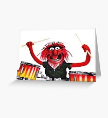 Animal Drummer Greeting Card