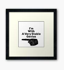 Trump - Very Stable Genius  Framed Print