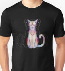 Drittes Auge offen Katze Slim Fit T-Shirt