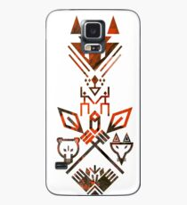 Tribal Sign Animals Wolf Bear Fox Spear Hand Totem Case/Skin for Samsung Galaxy