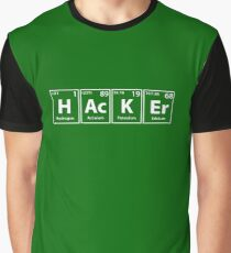 Hacker Elements Spelling Graphic T-Shirt