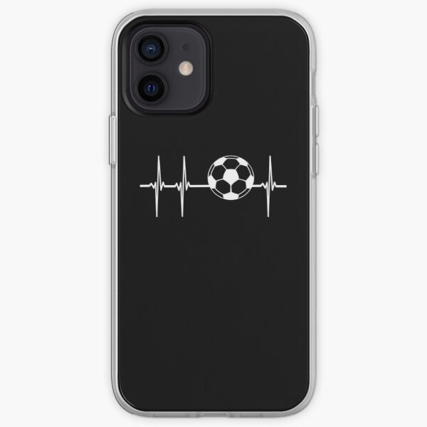Battement de coeur de football Coque souple iPhone