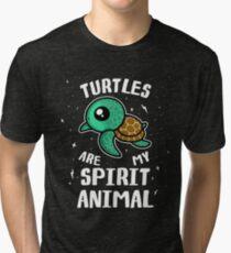 Turtles Are My Spirit Animal T-Shirt Tri-blend T-Shirt