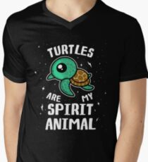 Turtles Are My Spirit Animal T-Shirt Men's V-Neck T-Shirt