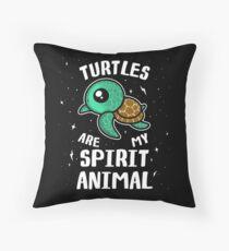Turtles Are My Spirit Animal T-Shirt Throw Pillow