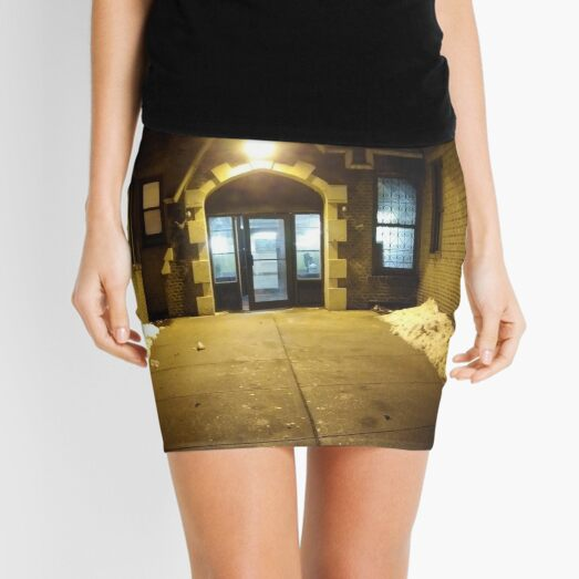 Night Building Mini Skirt