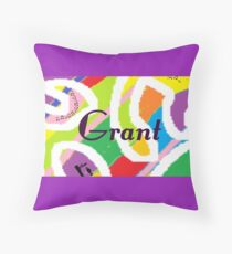 Grant - original artwork to personalize your gift Throw Pillow