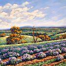 'Lavender Farm on Ponds Creek, Broadford' by Helen Miles