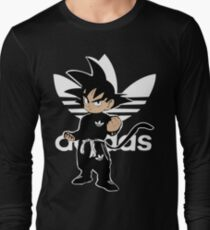 Sayanadidas white goku adidbas dragon ball BDZ anime manga Long Sleeve T-Shirt