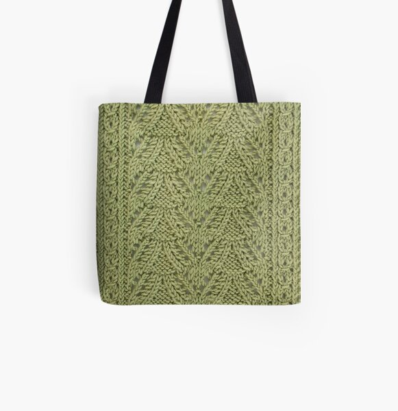 Pendant Purls-Celery All Over Print Tote Bag