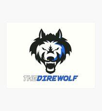 The Direwolf logo with name Art Print