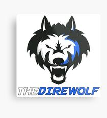 The Direwolf logo with name Metal Print
