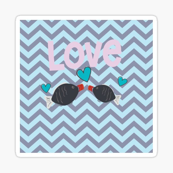 Valentine Fish. I am soy in love with you Sticker