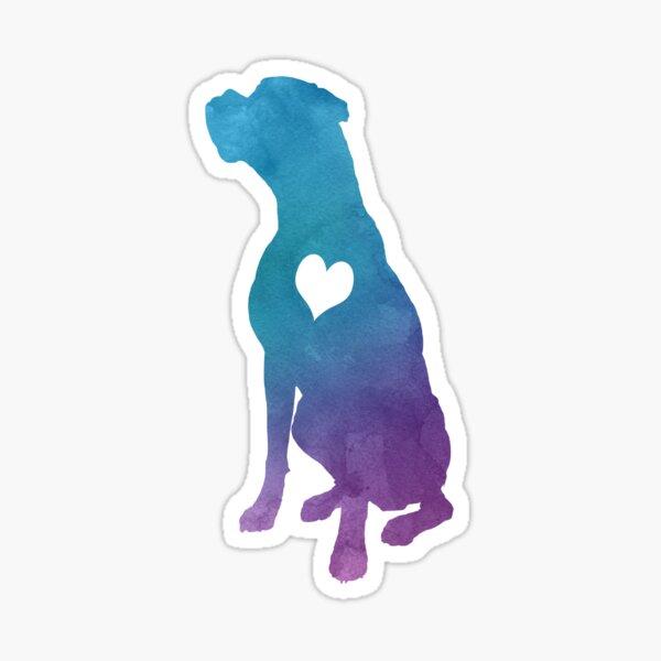Adore Boxers Watercolor Sticker