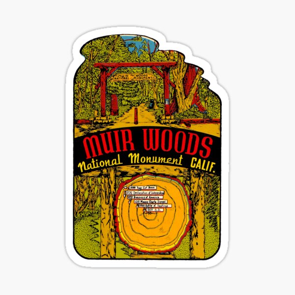 Muir Woods National Monument Vintage Travel Decal Sticker