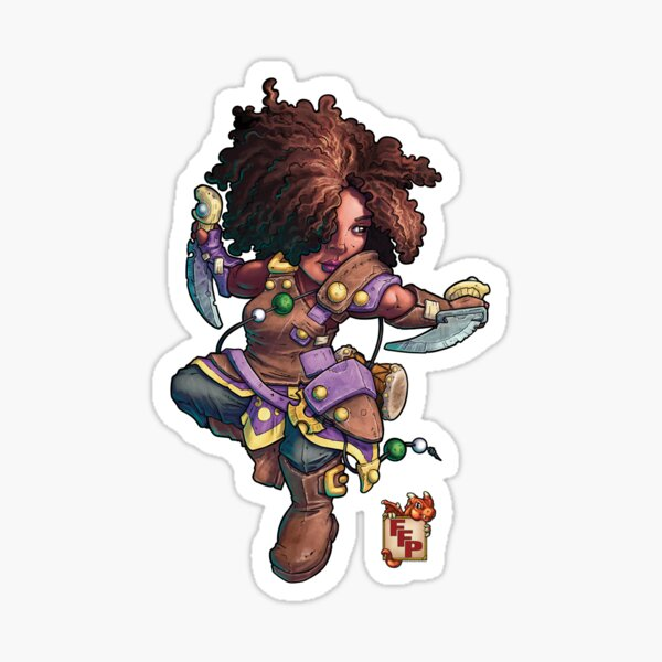 Fitzhywel's Fantastical Paraphernalia: Tiny Bard! Sticker