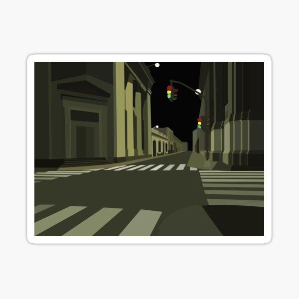 Look Down The Night Street Sticker
