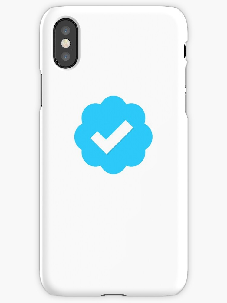 Twitter Verified Symbol Iphone Cases Covers By Loljackwho