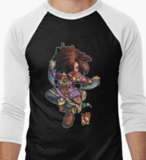 Fitzhywel's Fantastical Paraphernalia: Tiny Bard! Men's Baseball ¾ T-Shirt