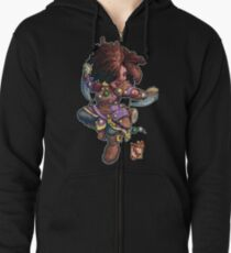 Fitzhywel's Fantastical Paraphernalia: Tiny Bard! Zipped Hoodie