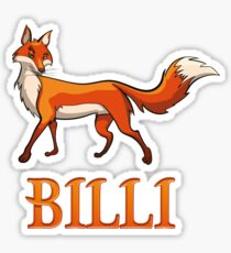 Billi Fox Sticker