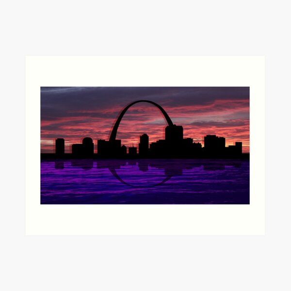 Night in St. Louis Art Print