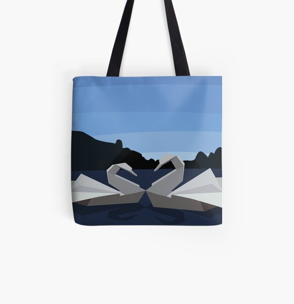 The Swan Lake All Over Print Tote Bag