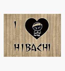 I Luv Hibachi Wood Style Photographic Print
