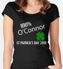 O'Connor St Patrick's Day Women's Fitted Scoop T-Shirt
