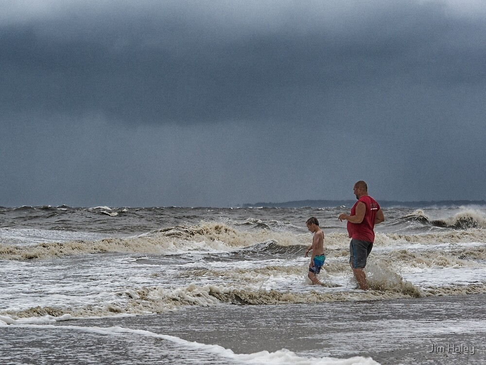 Stormy Day At The Beach by Jim Haley