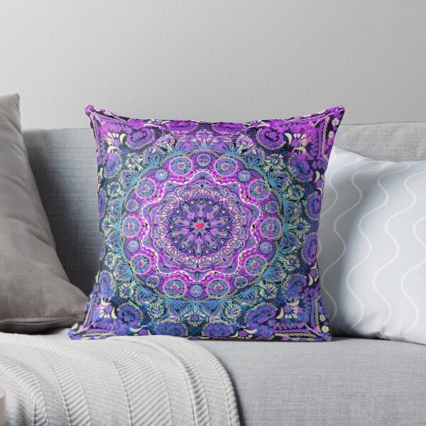 Cosmic Love Mandala Throw Pillow