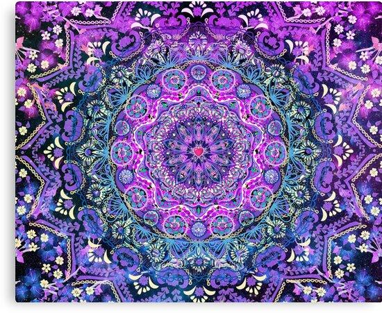Lienzos Mandala De Amor Cósmico De Cameron Gray Redbubble