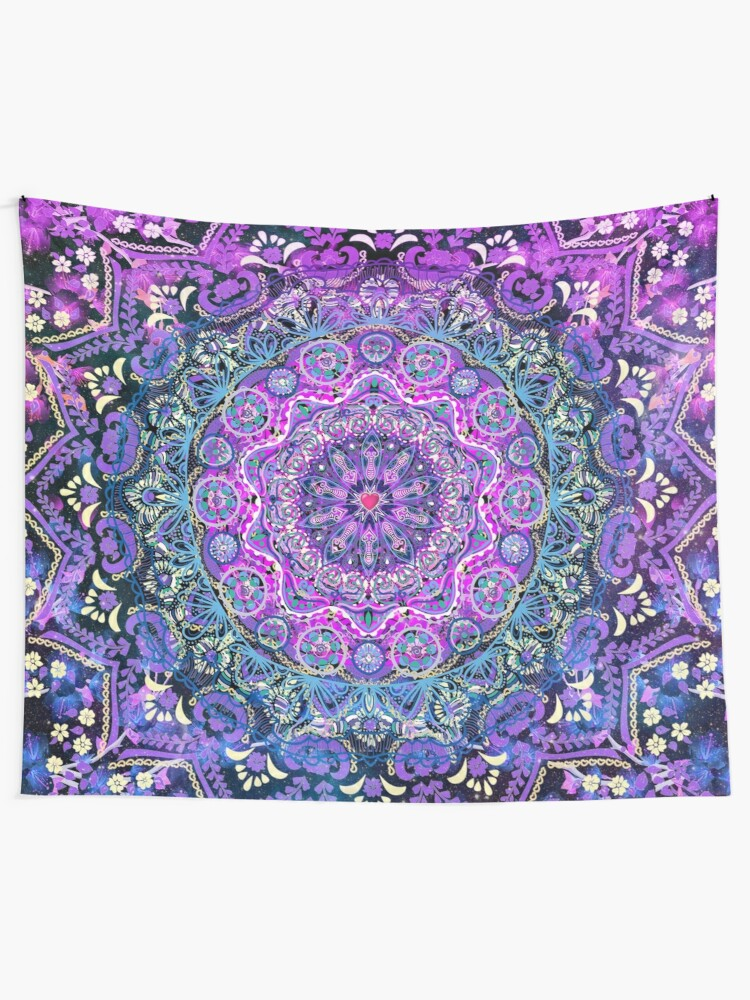 Alternate view of Cosmic Love Mandala Tapestry