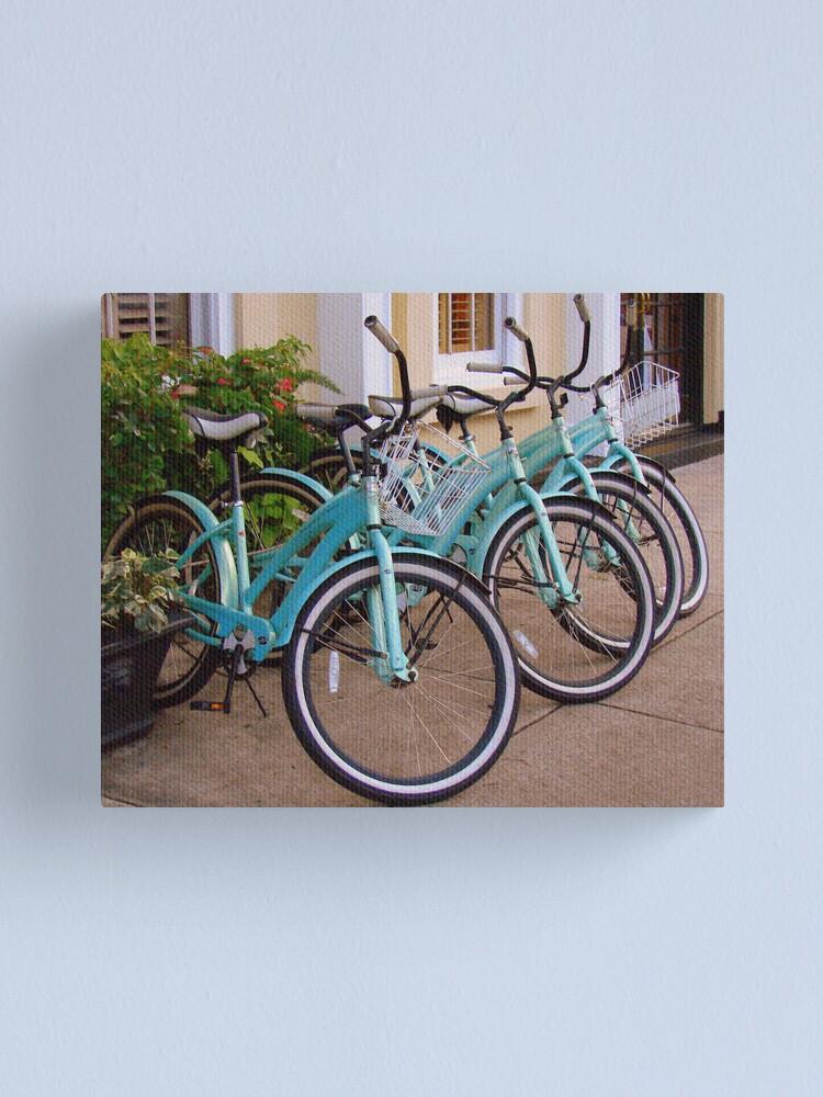 Alternate view of Blue Bikes Canvas Print