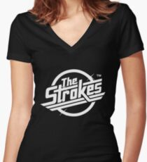 The Strokes Logo Women's Fitted V-Neck T-Shirt